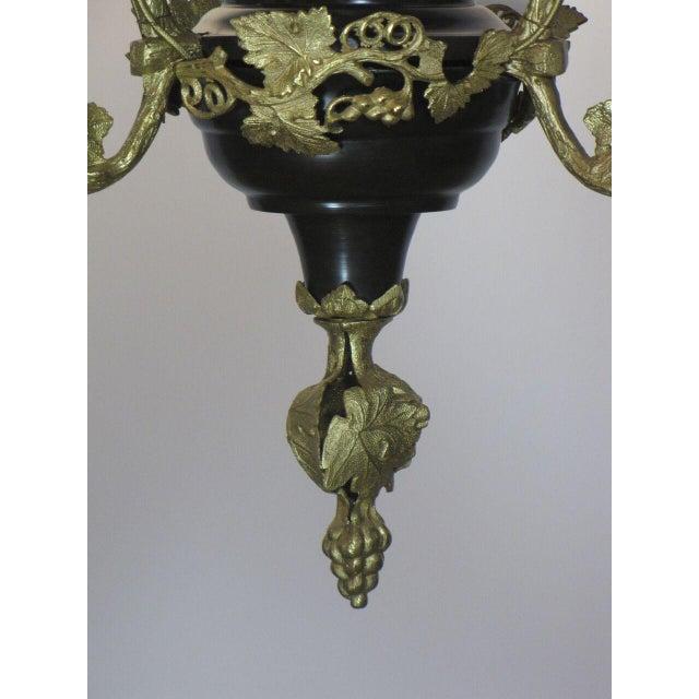 Victorian Oil Henry Hooper Three Light Chandelier For Sale In Boston - Image 6 of 8