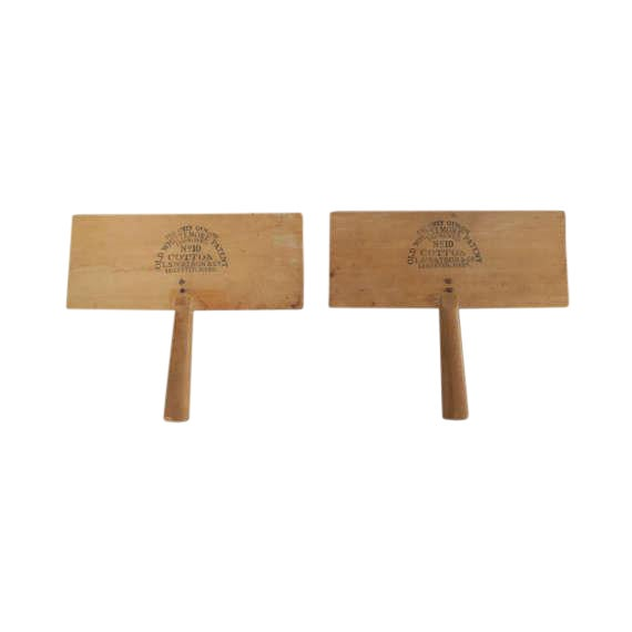 Antique Wooden Cotton Pullers Combs - Set of 2 For Sale