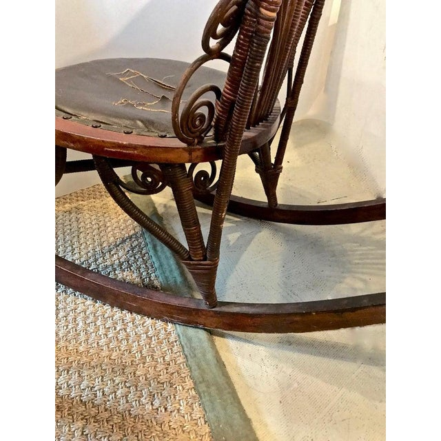 1900 - 1909 Heywood Wakefield Rocking Chair For Sale - Image 5 of 10