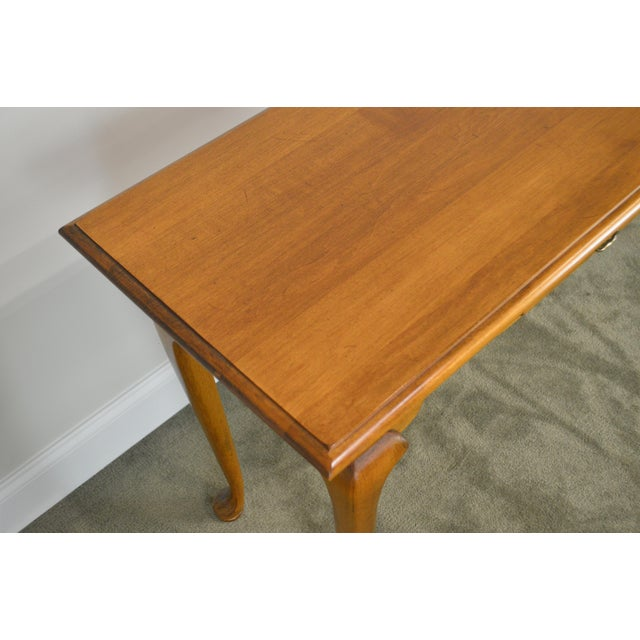 Ethan Allen Circa 1776 Collection Maple Queen Anne Sofa Table Console For Sale - Image 9 of 13