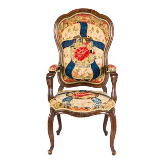 French Needle Point Armchair For Sale