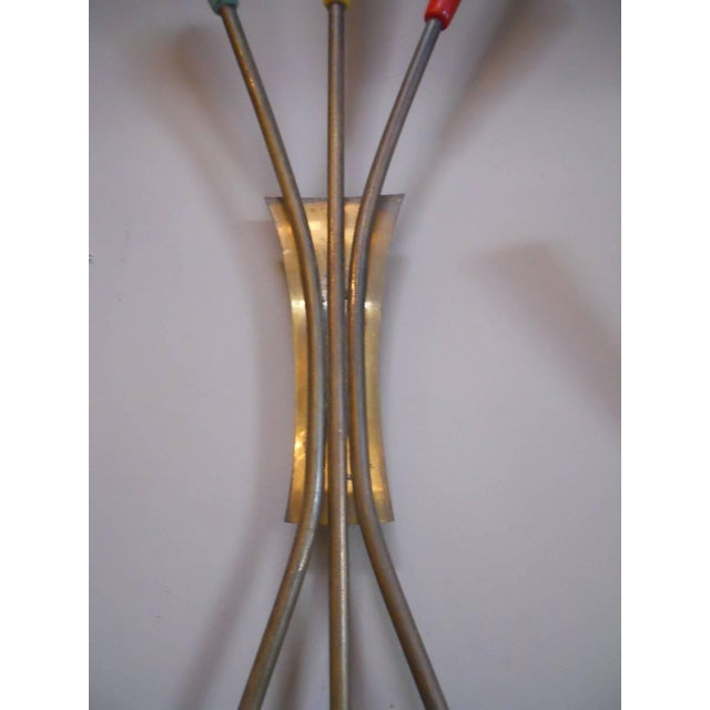 Mid 20th Century Pair of Tricolor Sconces by Stilnovo For Sale - Image 5 of 7