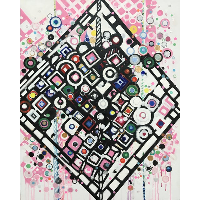 Natasha Mistry Contemporary Modern Diamond Oil Painting For Sale - Image 9 of 10