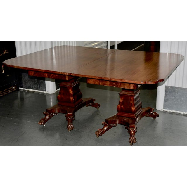 Late 19th Century 19th C. William IV Style Mahogany Extending Dining Table W/ Lions Paw Feet For Sale - Image 5 of 7