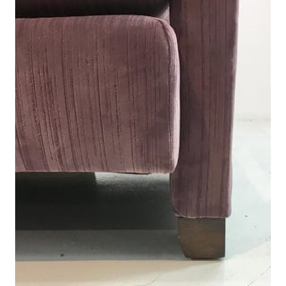 Modern Drexel Heritage Architecht Velvet Lilac Club Chair Preview
