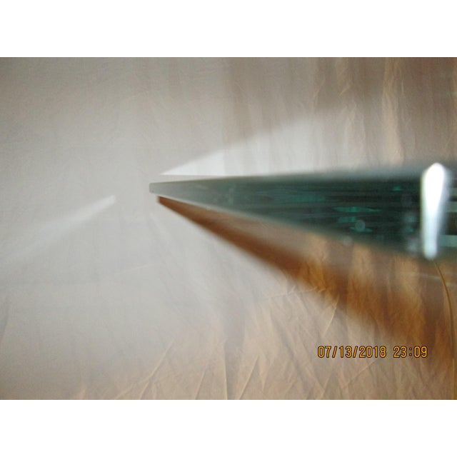 Glass Late 20th Century Vintage Fiam Style All Glass Ghost Console Table For Sale - Image 7 of 10