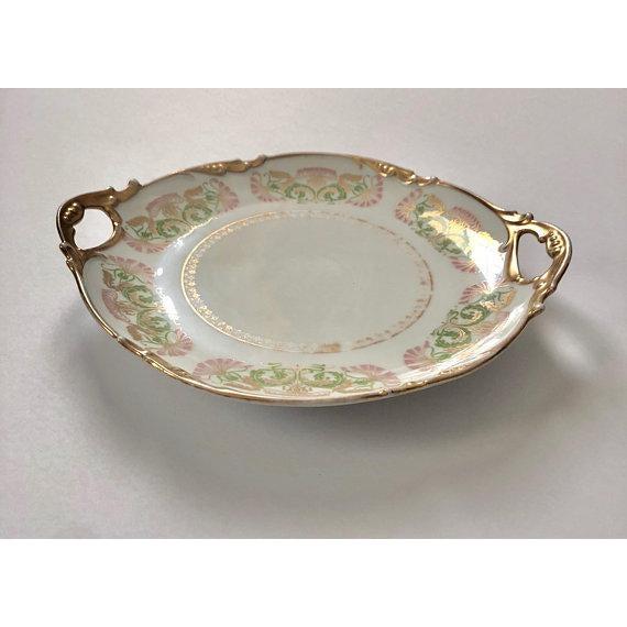 Limoges, France Antique Jean Pouyat Limoges Plate For Sale - Image 4 of 11
