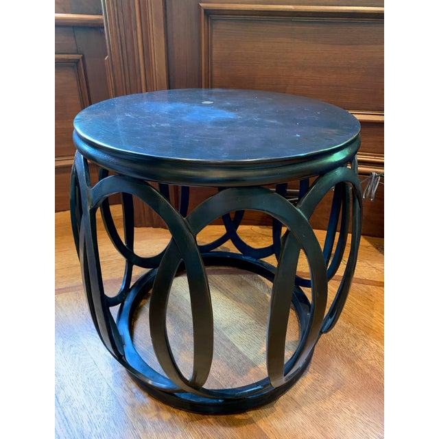 Asian 1990s Chinoiserie Barbara Barry Bracelet Drum Table For Sale - Image 3 of 6
