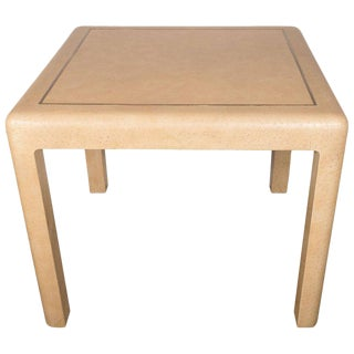 Signed Mid-Century Modern Ostrich Game Table by Karl Springer For Sale