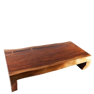 Organic Modern Single Slab Living Edge Coffee Table For Sale