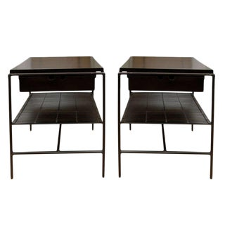 Paul McCobb Planner Group Iron Framed Nightstands - a Pair For Sale