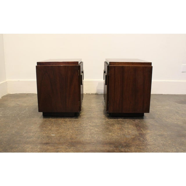 Pair of 1970s Mid-Century Modern Brutalist Nightstands by Lane For Sale In Dallas - Image 6 of 8
