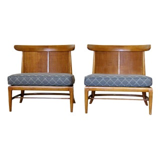 1950s Vintage John Lubberts & Lambert Mulder Tomlinson Sophisticates Slipper Chairs - a Pair For Sale