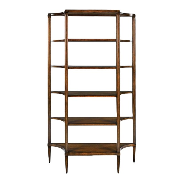 Modern Transitional Brown Etagere For Sale