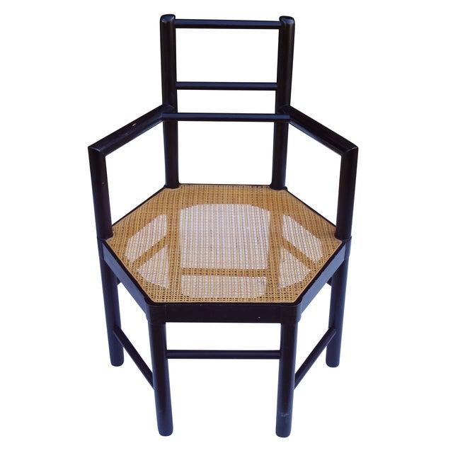 Josef Hoffmann Style Hexagonal Chair & Ottoman Set - Image 3 of 10