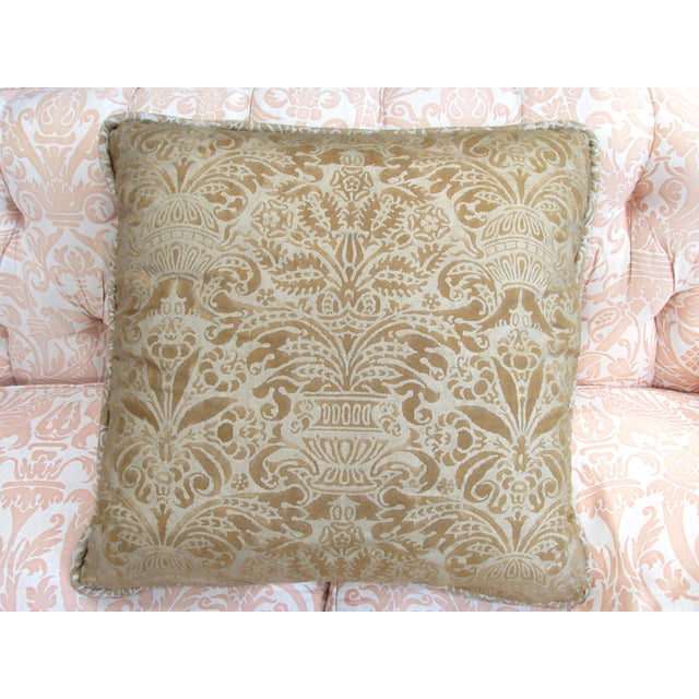 Gold Fortuny Custom Pillow - Image 2 of 5