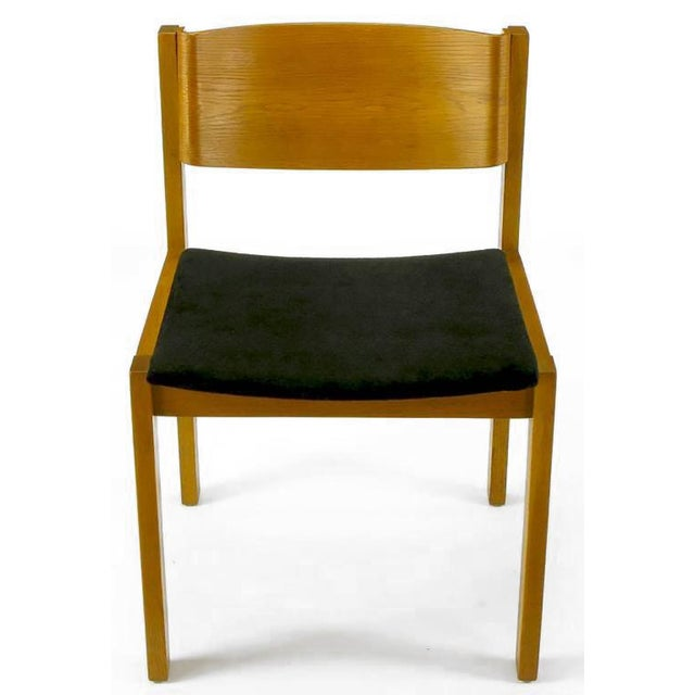 Mid-Century Modern Set Four Harvey Probber Bleached & Bent Mahogany Dining Chairs For Sale - Image 3 of 10