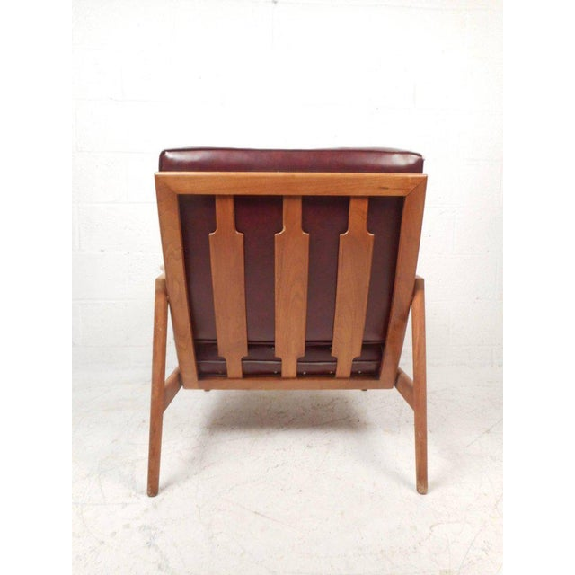 Mid-Century Modern Danish Teak Lounge Chair For Sale - Image 4 of 10