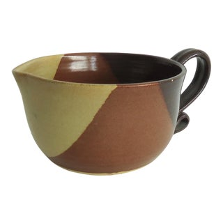 Organic Modern Kraus Pottery Batter Bowl For Sale