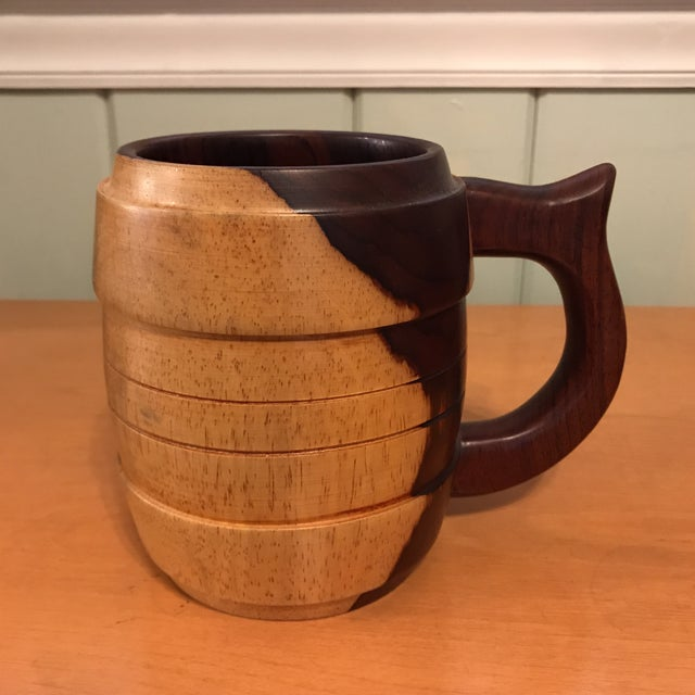 Carved Wood Stein Mug For Sale - Image 11 of 11