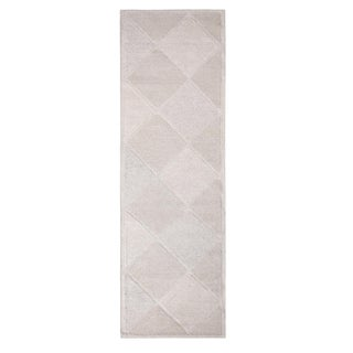 Rug & Kilim's Scandinavian Inspired Moroccan-Style Cream White Kilim Rug-3'1'x9'10' For Sale
