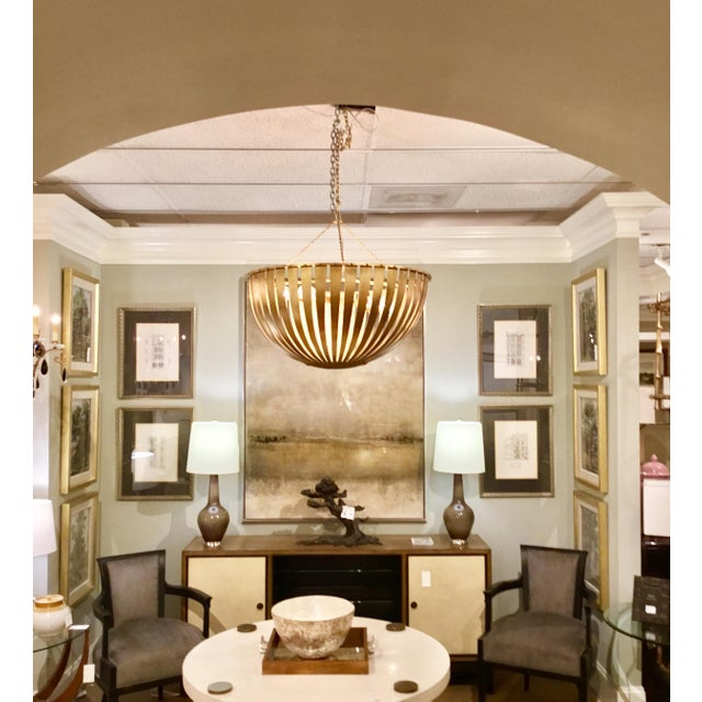 Arteriors Brass Camden Chandelier For Sale In Atlanta - Image 6 of 6