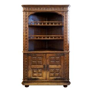 Spanish Corner Cabinet For Sale