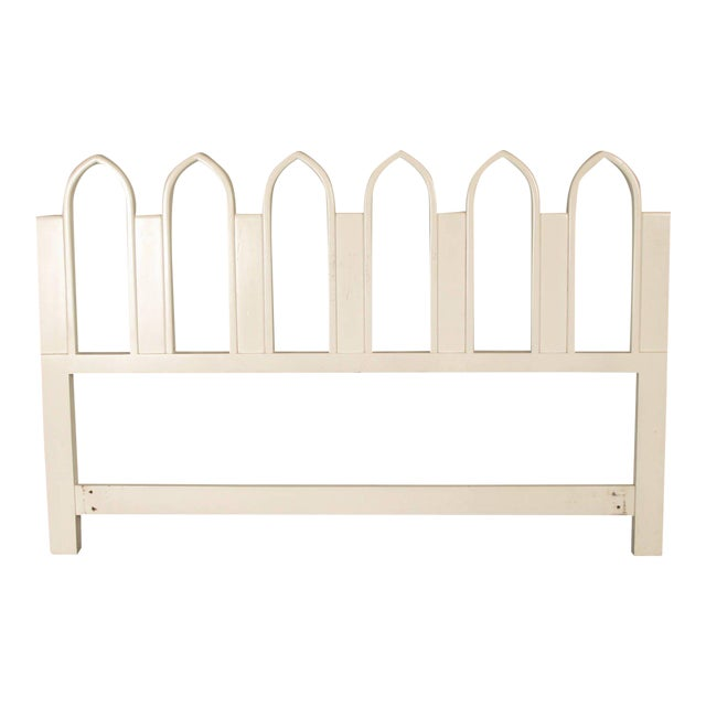1965 Harvey Probber Full or Queen-Size White Gothic Arch Headboard - Image 1 of 5