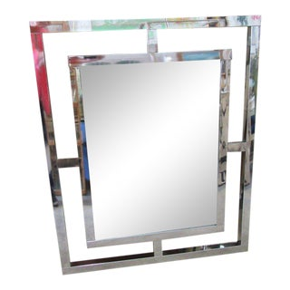 Modern Chrome Geometric Mirror