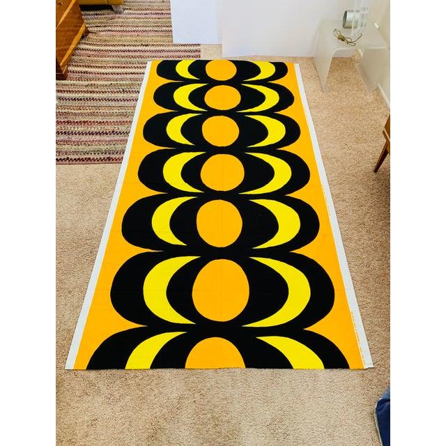 84a6bf50605f 1965 Vintage Marimekko Maija Isola Orange & Yellow Fabric For Sale - Image  13 of 13
