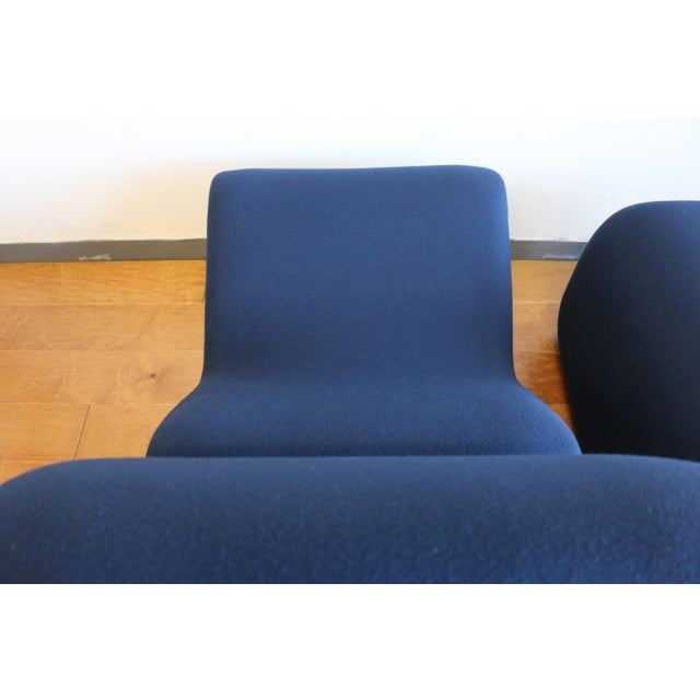 Ribbon Lounge Chair and Ottoman by Oliver Mourgue For Sale - Image 10 of 12