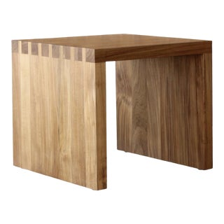 Indoor/Outdoor Teak Dovetail Side Table For Sale