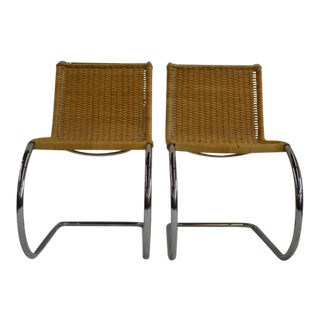 Vintage Bauhaus Mies Van Der Rohe Chairs - A Pair