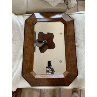 Williams Sonoma Home Burlwood Octagon Beveled Mirror Preview