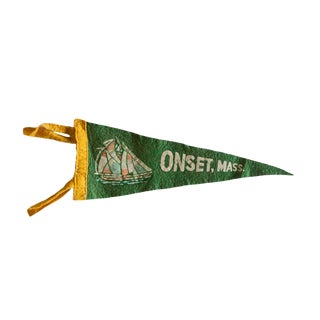 Vintage Onset, Mass. Felt Flag Pennant For Sale