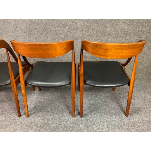1960s 1960s Vintage Johannes Andersen Danish Modern Walnut Dining Chairs- Set of 4 For Sale - Image 5 of 10