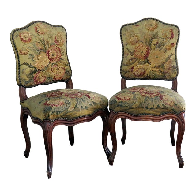 Mid Century Louis XVI Style Side Chairs- A Pair For Sale