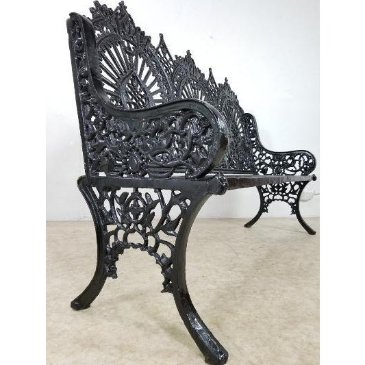 American Antique American Cast Iron Park Bench For Sale - Image 3 of 13