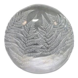 Japanese Hoya Modernist Frosted Glass Bowl For Sale