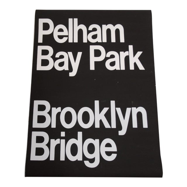 1980s Americana New York City '6 Train' Subway Sign For Sale
