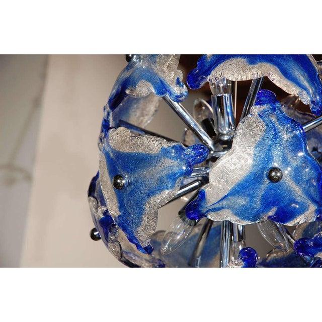 Art Glass Chandelier - Image 3 of 7