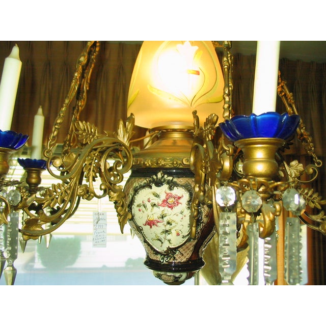 French Traditional Victorian Hall Chandelier 19th Century - Image 4 of 8