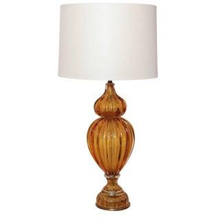 Italian Murano Glass Lamp For Sale
