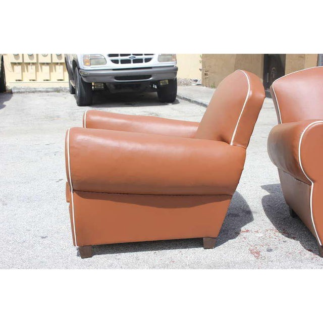 1950s Vintage French Art Deco Club Chairs - a Pair For Sale In Miami - Image 6 of 12