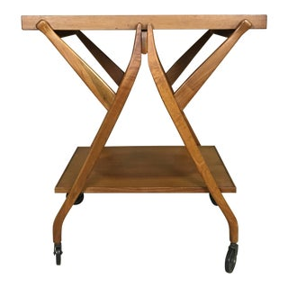 Walnut Tray Table/ Bar Cart by Kipp Stewart for Drexel