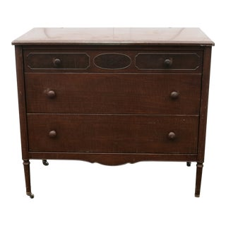 1930s Vintage Simmons Metal Chest Of Drawers For Sale