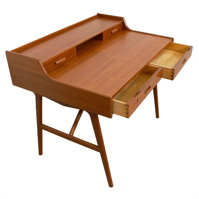 Iversen Danish Teak Writing Desk - Image 2 of 8