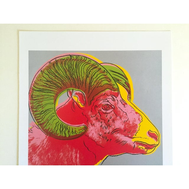 "This Andy Warhol Estate vintage 1992 Endangered Species collector's offset lithograph print "" Bighorn Ram "" 1983, is an..."