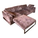 Image of Minotti Purple Sofa and Ottoman For Sale