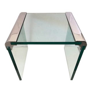 Chrome and Glass Pace Side Table